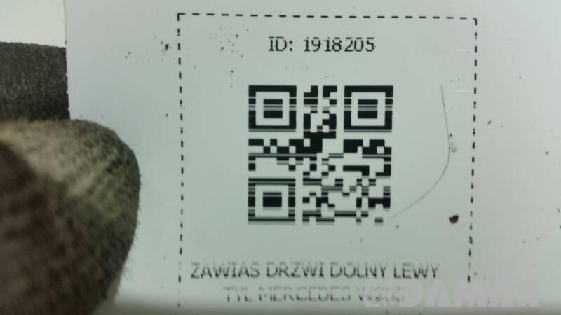 ZAWIAS DRZWI DOLNY LEWY TYL MERCEDES W203