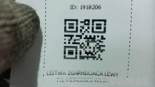 LISTWA ZGARNIAJACA LEWY TYL MERCEDES W203