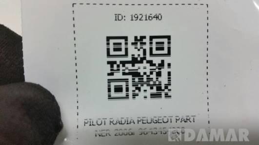 PILOT RADIA PEUGEOT PARTNER 2006r 9643454880