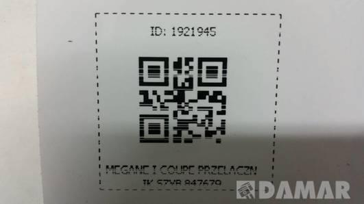 847679  PRZELACZNIK SZYB MEGANE I COUPE