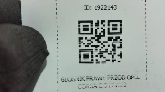 9175188 4OHM GLOSNIK DRZWI OPEL