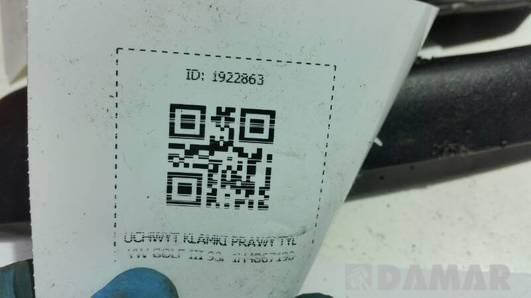 1H4867198 UCHWYT KLAMKI PRAWY TYL VW GOLF III 93r