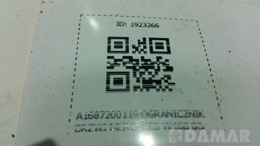 A1687200116 OGRANICZNIK DRZWI MERCEDES W168 00r