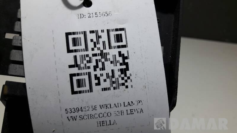 533945258 WKLAD LAMPY VW SCIROCCO 53B LEWA HELLA