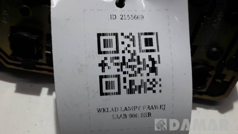 WKLAD LAMPY PRAWEJ SAAB 900 85R