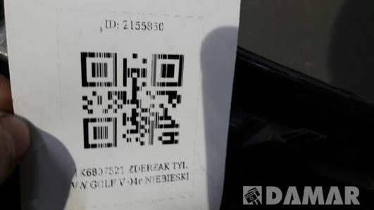 1K6807521 ZDERZAK TYL VW GOLF V 04r NIEBIESKI