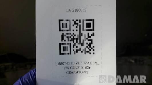 1J6807421D ZDERZAK TYL VW GOLF IV 02r  GRANATOWY