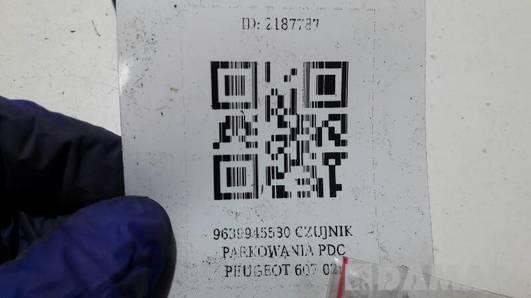 9639945580 CZUJNIK PARKOWANIA PDC PEUGEOT 607 02r