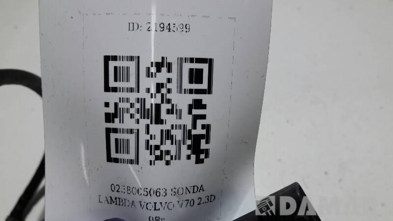 0258005063 SONDA LAMBDA VOLVO V70 2.3D 98r