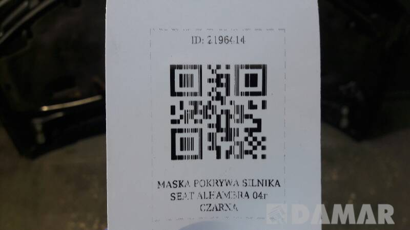 MASKA POKRYWA SILNIKA SEAT ALHAMBRA 04r CZARNA