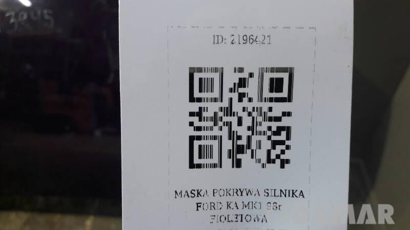 MASKA POKRYWA SILNIKA FORD KA MK1 98r FIOLETOWA