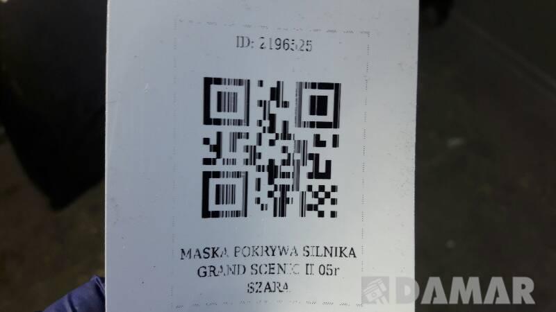 MASKA POKRYWA SILNIKA GRAND SCENIC II 05r SZARA