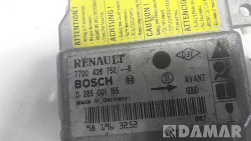 0285001155 SENSOR AIRBAG RENAULT CLIO