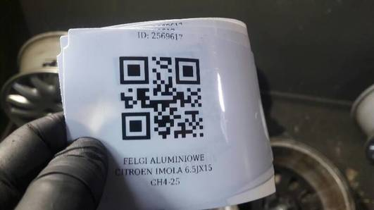 FELGI ALUMINIOWE CITROEN C5 IMOLA 6.5 JX15 CH4-25