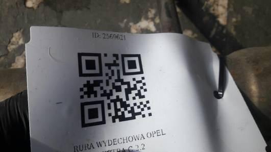RURA WYDECHOWA OPEL VECTRA C 2.2