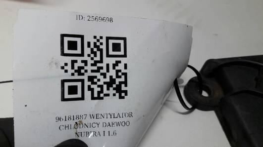 96181887 WENTYLATOR CHLODNICY DAEWOO NUBIRA I 1.6