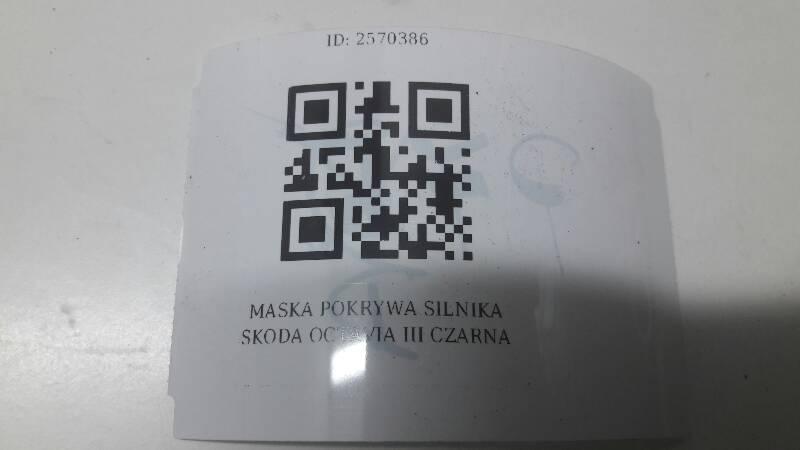 MASKA POKRYWA SILNIKA SKODA OCTAVIA III CZARNA