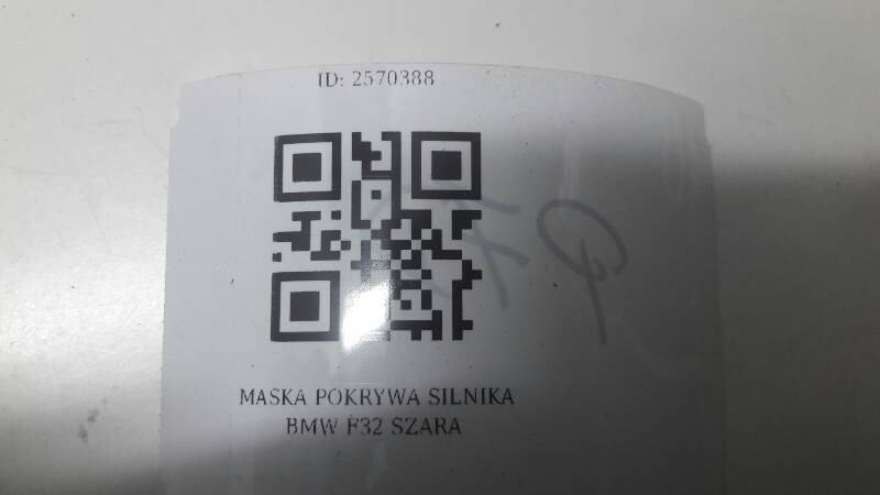 MASKA POKRYWA SILNIKA BMW F32 SZARA