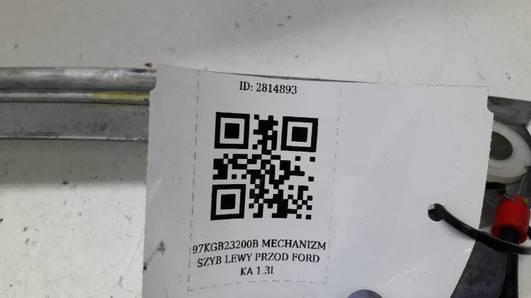 97KGB23200B MECHANIZM SZYB LEWY PRZOD FORD KA 1.3I
