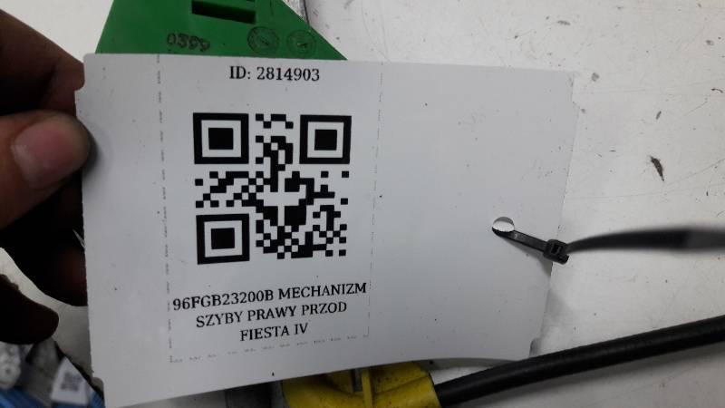 96FGB23200B MECHANIZM SZYBY PRAWY PRZOD FIESTA IV
