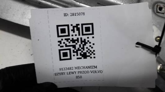 9133482 MECHANIZM SZYBY LEWY PRZOD VOLVO 850