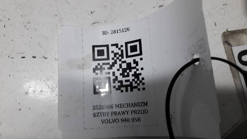 3528566 MECHANIZM SZYBY PRAWY PRZOD VOLVO 940 95R