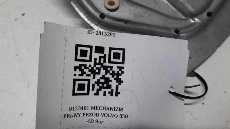9133481 MECHANIZM PRAWY PRZOD VOLVO 850 4D 95r