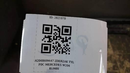 A2048809447 ZDERZAK TYL PDC MERCEDES W204 KOMBI