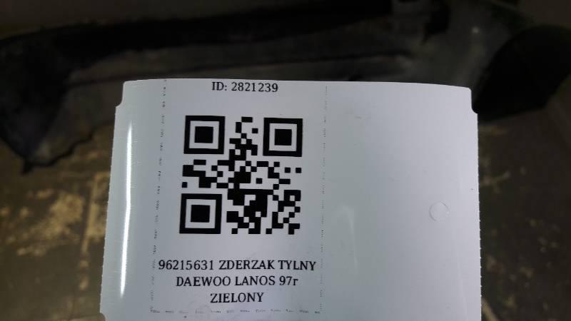 96215631 ZDERZAK TYLNY DAEWOO LANOS 97r ZIELONY