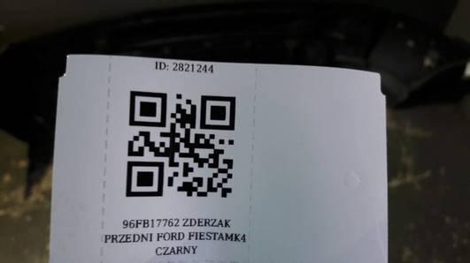 96FB17762 ZDERZAK PRZEDNI FORD FIESTA MK4 CZARNY