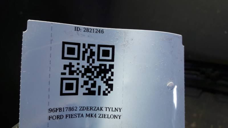 96FB17862 ZDERZAK TYLNY  FORD FIESTA MK4 ZIELONY