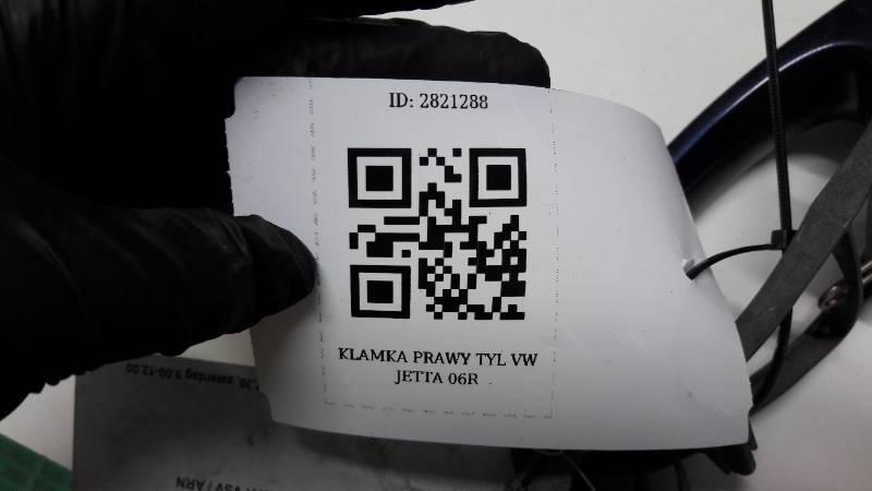 1K0837886 KLAMKA PRAWY TYL VW JETTA 06R