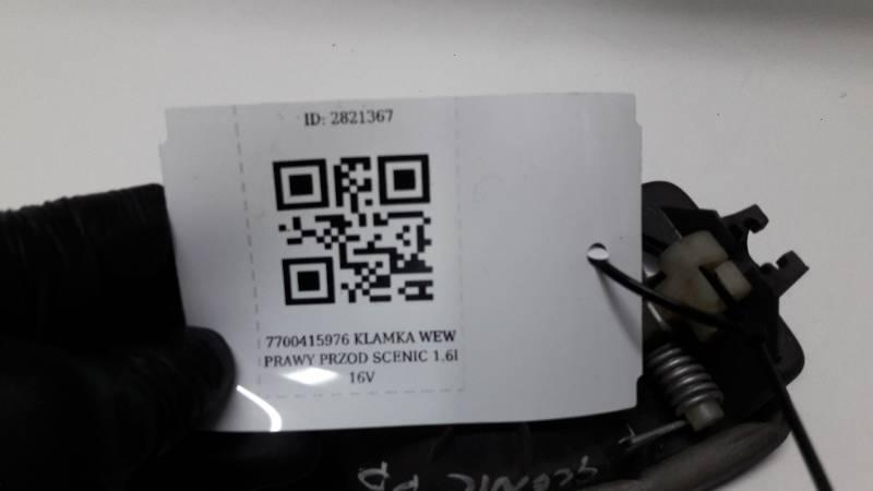 7700415975 KLAMKA WEW PRAWY PRZOD SCENIC 1.6I 16V