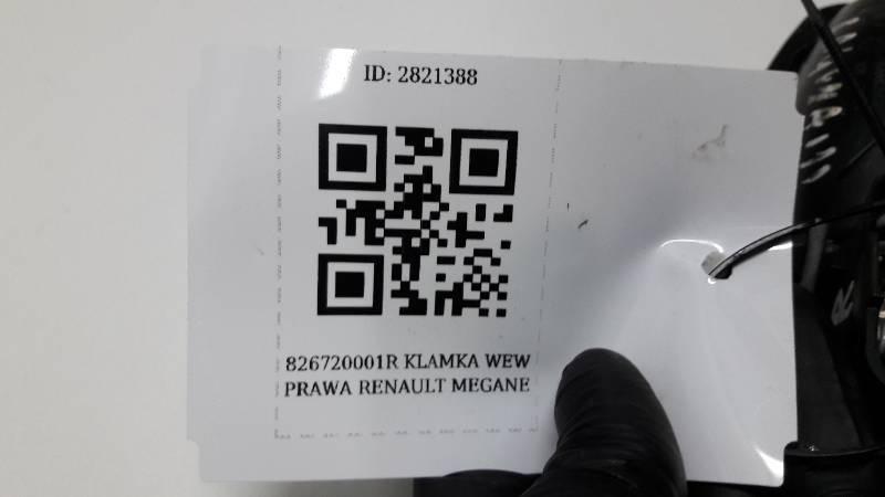 826720001R KLAMKA DRZWI PRAWA RENAULT MEGANE