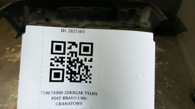 710674000 ZDERZAK TYLNY FIAT BRAVO I 98r GRANATOWY