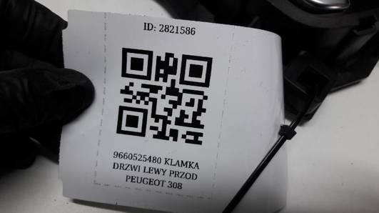 9660525480  KLAMKA DRZWI LEWY PRZOD PEUGEOT 308