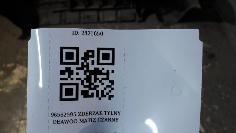 96562595 ZDERZAK TYLNY DAEWOO MATIZ  CZARNY