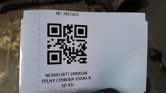 9638953677 ZDERZAK TYLNY CITROEN XSARA II 3D 03r
