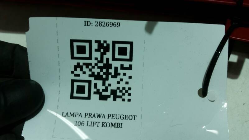 LAMPA PRAWA PEUGEOT 206 LIFT KOMBI
