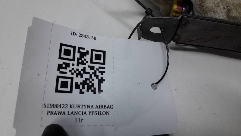 51908422 KURTYNA AIRBAG PRAWA LANCIA YPSILON 11r
