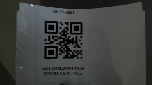 WAL NAPEDOWY PA59 TOYOTA RAV4 170cm