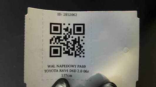 WAL NAPEDOWY PA69 TOYOTA RAV4 D4D 2.0 06r 177cm