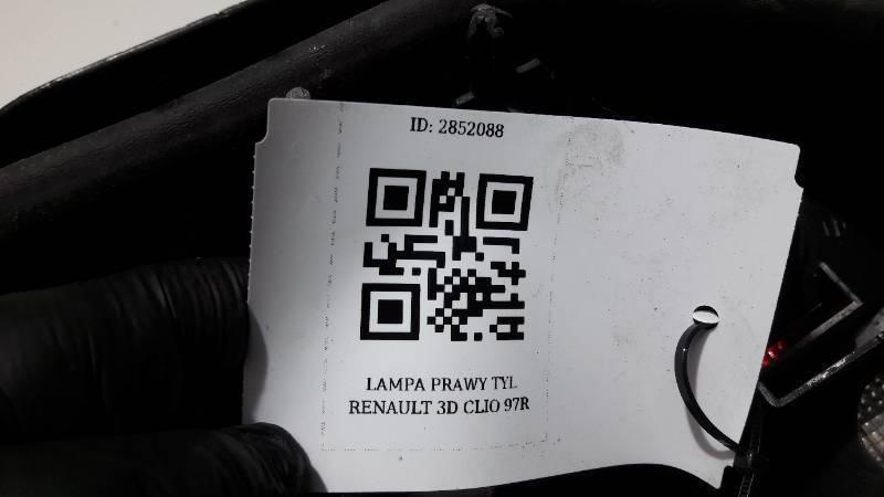 LAMPA PRAWY TYL RENAULT CLIO I 97R