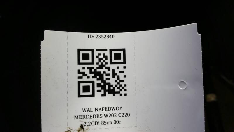 WAL NAPEDOWY MERCEDES W202 C220 2.2CDi 85cm 00r