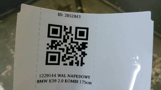1229144 WAL NAPEDOWY BMW E39 2.0 KOMBI 175cm
