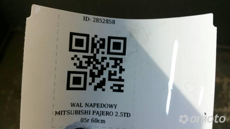 WAL NAPEDOWY MITSUBISHI PAJERO 2.5TD 05r 60cm