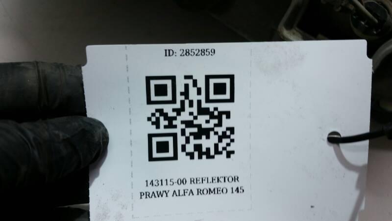 143115-00 REFLEKTOR LEWY ALFA ROMEO 145