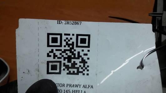 REFLEKTOR PRAWY ALFA ROMEO 145 HELLA  143116-00 RE