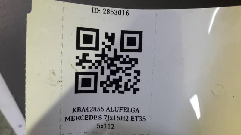KBA42855 ALUFELGA MERCEDES 7Jx15H2 ET35 5x112