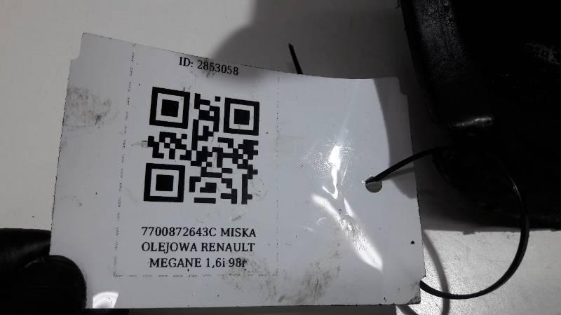 7700872643C MISKA OLEJOWA RENAULT MEGANE 1,6i 98r
